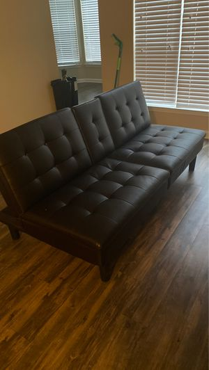 (Brand new) all Black reclining leather couch for Sale in Atlanta, GA