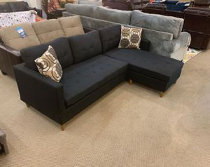 Brand New Black Linen Sectional Sofa Couch for Sale in Falls Church, VA