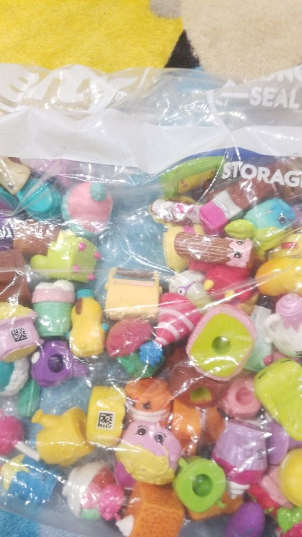 100 Shopkins tradeing for 50 pocket pops or somthing thats worth 100 shopkins