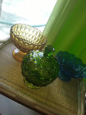 Vintage colored glass sold separately for Sale in Port St. Lucie, FL