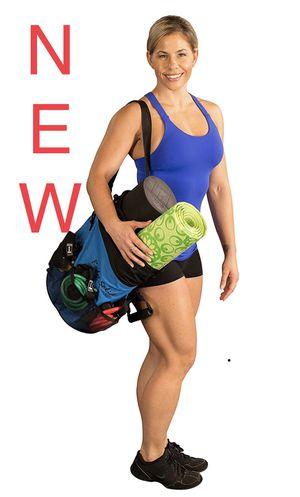 Travel Gym Bag Exercise Pack (five workout Resistance bands, fitness mat, foam roller) for Sale in Clarksburg, MD