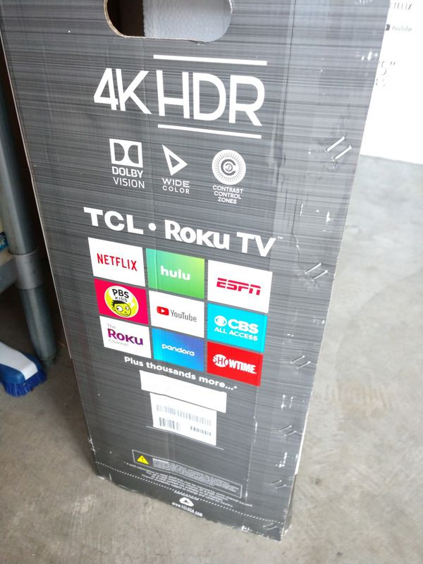 "TCL 75"" 4K UHD SMART TV ROKU BRAND NEW"
