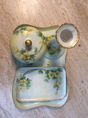 ANTIQUE Limoges 4 Piece Dresser Set for Sale in Chelsea, MA
