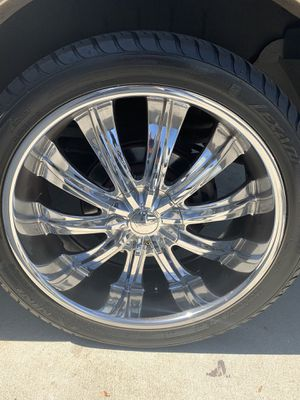 """24"""" rims and tires for Sale in Phillips Ranch, CA"""
