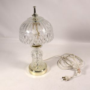 "6""x12""x3.5 Vintage Antique Crystal Glass Table Lamp Home Lighting Decor for Sale in Mesa, AZ"