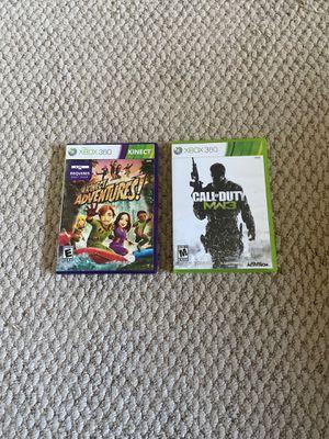 Modern Warfare 3 & Kinect Adventures for Xbox 360 for Sale in Coto de Caza, CA