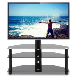 """Modern TV Shelf Entertainment Center Black TV Stand with Storage for TVs up to 70"""" for Sale in Ontario,  CA"""