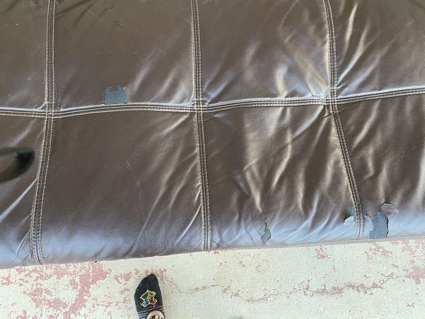 Futon leather couch