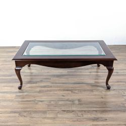 Glass Top Wooden Coffee Table (1038748) for Sale in San Bruno,  CA