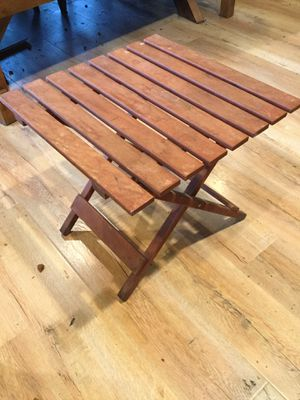 Small Folding Table. Top 18inches X 18inches. Hight 16 inches. for Sale in Sacramento, CA