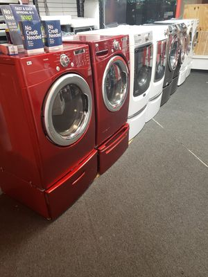 large selection of front load washer and dryer set with pedestal for Sale in Baltimore, MD