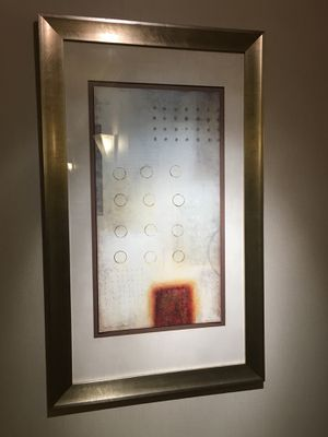 Set of Abstract Art - framed with glass for Sale in Los Angeles, CA