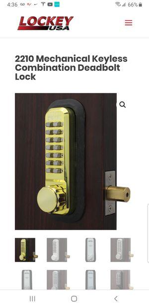 Lockey 2210BB Mechanical Keyless Deadbolt  for Sale in Fort Lauderdale, FL