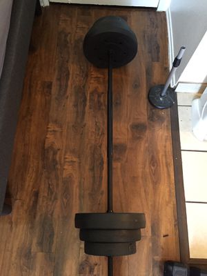 80 lbs with bar. Weights for Sale in Los Angeles, CA