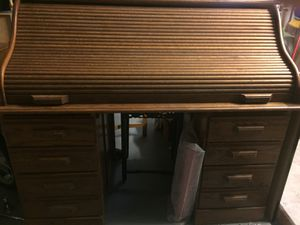 Wood antique desk for Sale in Delray Beach, FL