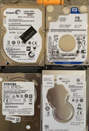 """Laptop Lot of 19 - 2.5"""" 1TB hard drives HDDs Toshiba Seagate WD HGST for Sale in Buffalo Grove, IL"""