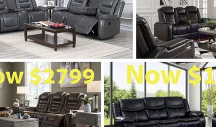 Brand New Living Room Set Electric Reclining $39 Down Payment Get It Home Today For No Credit Needed Financing . We Do Same Day Delivery for Sale in Mansfield,  TX