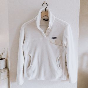 Patagonia White & Oatmeal Re-Tool Snap-T Pullover for Sale in San Diego, CA