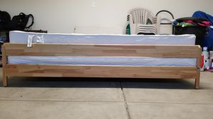 2 stackable twin size bed frames and 2 mattresses. for Sale in Modesto, CA