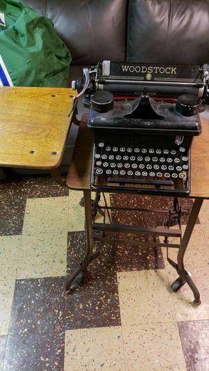 Antique Woodstock typewriter and typewriter table for Sale in Allen Park, MI