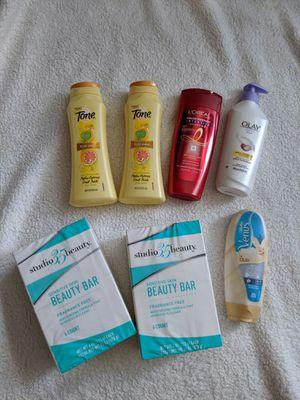 Olay Body Lotion, Gillette Venus shower & shave cream, Tone Body Wash, Loreal shampoo & bar soap. All new $20 for Sale in Everett, WA