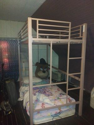 Twin loft bed FRAMES (1 pink & 1 green) for Sale in Milwaukee, WI