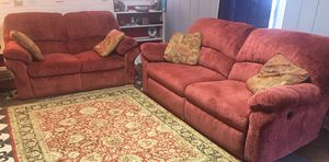 Excellent condition and RARELY used ALL RECLINERS. Velvet fabric.quick sale no time waster please for Sale in Manassas, VA