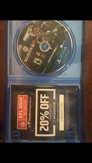 Madden 18 - PS4 for Sale in Lemon Grove, CA