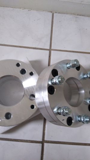 Chevy 6 lug to 5 lug wheel spacers adapters for Sale in Plant City, FL