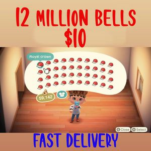 Animal Crossing 12 Million Bells for Sale in City of Industry, CA