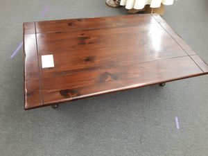 Rustic/ Farmhouse/Country double drop leaf coffee table! Extremely solid, 54x36x17 tall...matching end table available.. for Sale in Joliet, IL