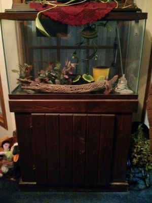 30 gallon fish tank and stand for Sale in Quincy, IL