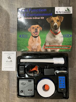 My Pet Command Wireless Underground Dog Fence System, Dual Function With Remote Dog Training Collar System for Sale in Valencia, CA