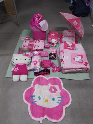 Hello Kitty bedroom ensemble and accessories for Sale in Gilbert, AZ