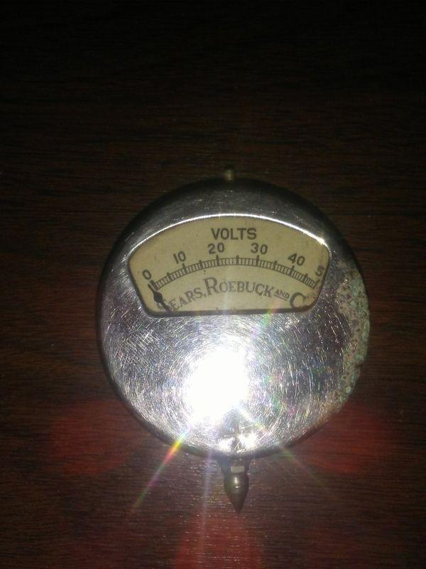 Vintage Sears Roebuck Voltage Meter