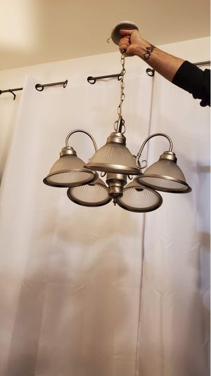 Silver Dining Room Chandelier / Light Fixture for Sale in Tacoma, WA