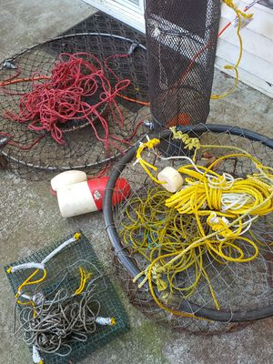 Crap trap shrimp trap fishing gear for Sale in Mountlake Terrace, WA