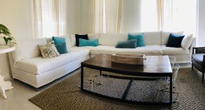 White West Elm Sectional couch for Sale in Deerfield Beach, FL
