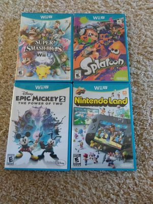 4 Nintendo Wii U Games for Sale in San Antonio, TX
