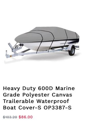 New ! Marine grade polyester canvas waterproof boat cover for Sale in Fontana, CA