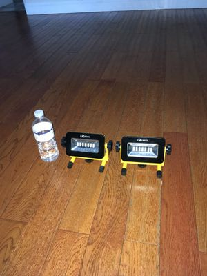 Two battery operated work lights AA batteries for Sale in TWN N CNTRY, FL