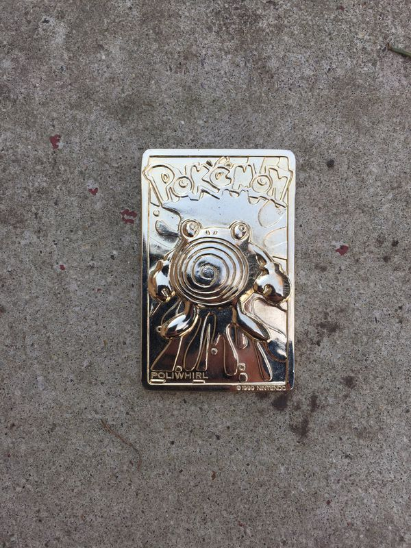 Limited Edition Golden Burger King Poliwhirl Card