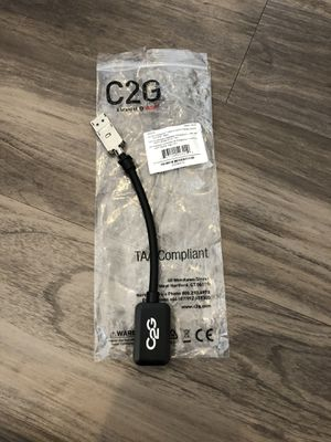 C2G 8in Display Port to HDMI Adapter for Sale in Lincoln, NE