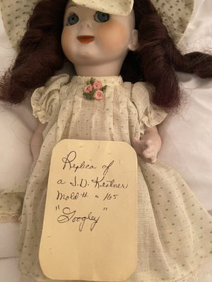 Antique porcelain dolls and doll suitcase 25$ per doll suitcase 15$ for Sale in Sacramento, CA