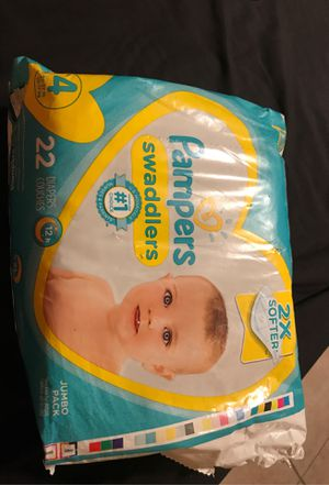 Pampers swaddlers size 4 for Sale in San Bernardino, CA
