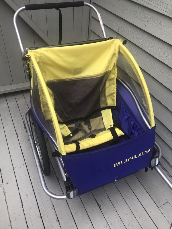Burley D lite, double, bike and run stroller, trailer