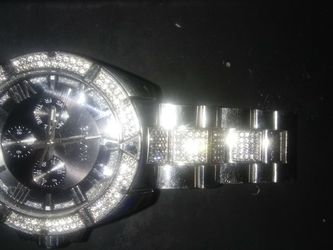Men's Bulova Watch Stainless Steel Swarovski Crystal And Christian for Sale in Walnut,  CA