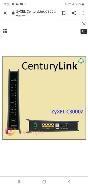 Supersonic Centry Link Modem C3000Z - by ZyXEL for Sale in Salt Lake City, UT