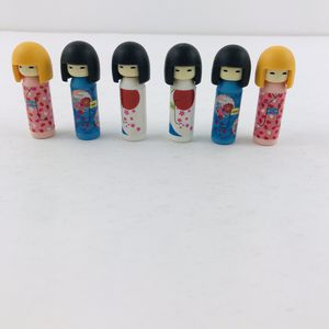 Japanese Iwako Erasers Set Japan Kokeshi Doll 6 pcs S-3559 School Supplies iwako for Sale in Huntington Beach, CA
