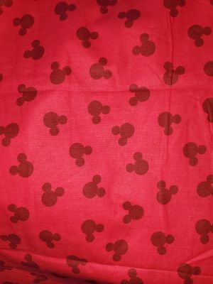 Red mickey mouse fabric for Sale in Dixon, MO
